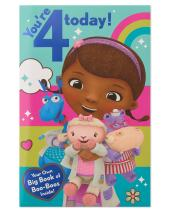 American Greetings Doc McStuffins 4th Birthday Card for Girl
