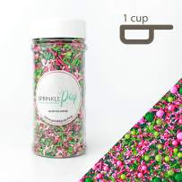 Killarney Rose Sprinkle Mix | White | Pink| Green and Lime | For Ladies | Sorority | Gluten Friendly Sprinkles, 8OZ
