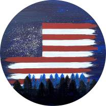 TIRE COVER CENTRAL US American Flag Night Sky Forest Spare Tire Cover for 225/75r15 Jeep RV Camper Trailer(Drop Down Size menu
