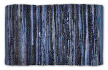 DII Contemporary Reversible Indoor Area Rag Rug, Machine Washable, Handmade from Recycled Fabrics, Unique For Bedroom, Living Room, Kitchen, Nursery and more, 4 x 6' - Nautical Blue (Color may vary)