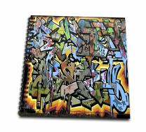3dRose db_53876_2 Graffiti Wall Art Lettering Memory Book, 12 by 12-Inch
