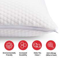 Pure Talalay Bliss - Latex Foam Pillow - Breathable Cooling Cover - Classic - Queen - High Profile