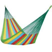 Sunnydaze Handwoven Portable Mayan Hammock, Single Size, Multi-Color, 330-Pound Capacity