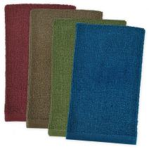 """DII Kitchen Bar Mop Cleaning Terrycloth Towels (16 x 19"""", 4 Pack) Pure Cotton, Machine Washable, Absorbent, Everyday Basic Lint-free Dishtowels - Classic"""