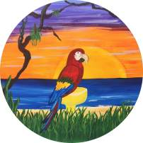 TIRE COVER CENTRAL Parrot Margarita Beach Wheel Spare Tire Cover (Select tire Size/Back up Camera Opening in MENU) Sizes for Any Make Model for 315/70R17