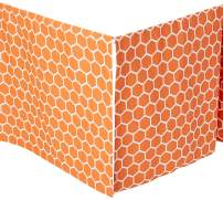 SheetWorld - Crib Skirt (28 x 52) - Burnt Orange Honeycomb - Made In USA