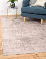 Unique Loom Paris Collection Pastel Tones Traditional Distressed Gray Area Rug (9' 0 x 12' 0)