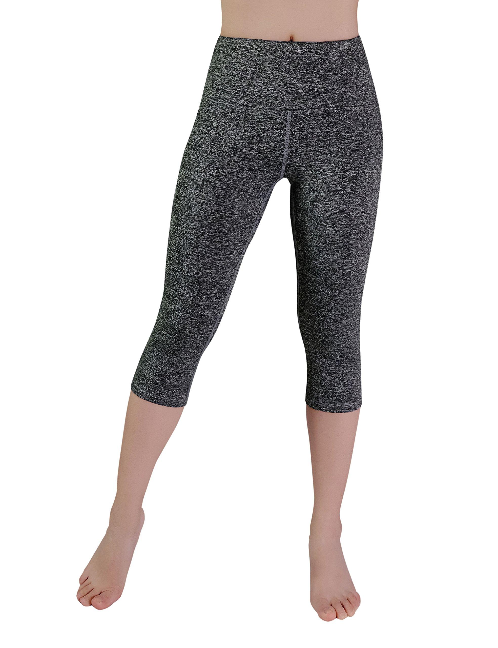 REETOYO Women's High Waisted Yoga Pants Tummy Control Yoga Capris Leggings with Pocket