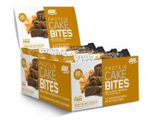 OPTIMUM NUTRITION Protein Cake Bites, Whipped Protein Bars, On the Go, low sugar, Protein Dessert, Flavor: Peanut Butter Chocolate, 12 Count
