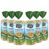 Lundberg Organic Brown Rice Cakes, Tamari with Seaweed, 8.5oz (6 Count), Gluten-Free, Vegan, USDA Certified Organic, Non-Gmo Verified, Kosher, Whole Grain Brown Rice