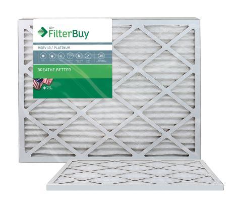 Pleated HVAC AC Furnace Air Filter AFB Platinum MERV 13 FilterBuy 16x20x4