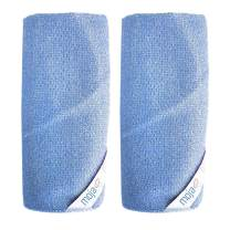 MojaWorks Best Cast Iron Multi-purpose Cleaner Non-scratch Bristle Great for Cleaning Any Surface at Home Kitchens Dishes Bathrooms Includes Corner Loop for Easy Drying Chemical Free 2-Pcs Set (Blue)