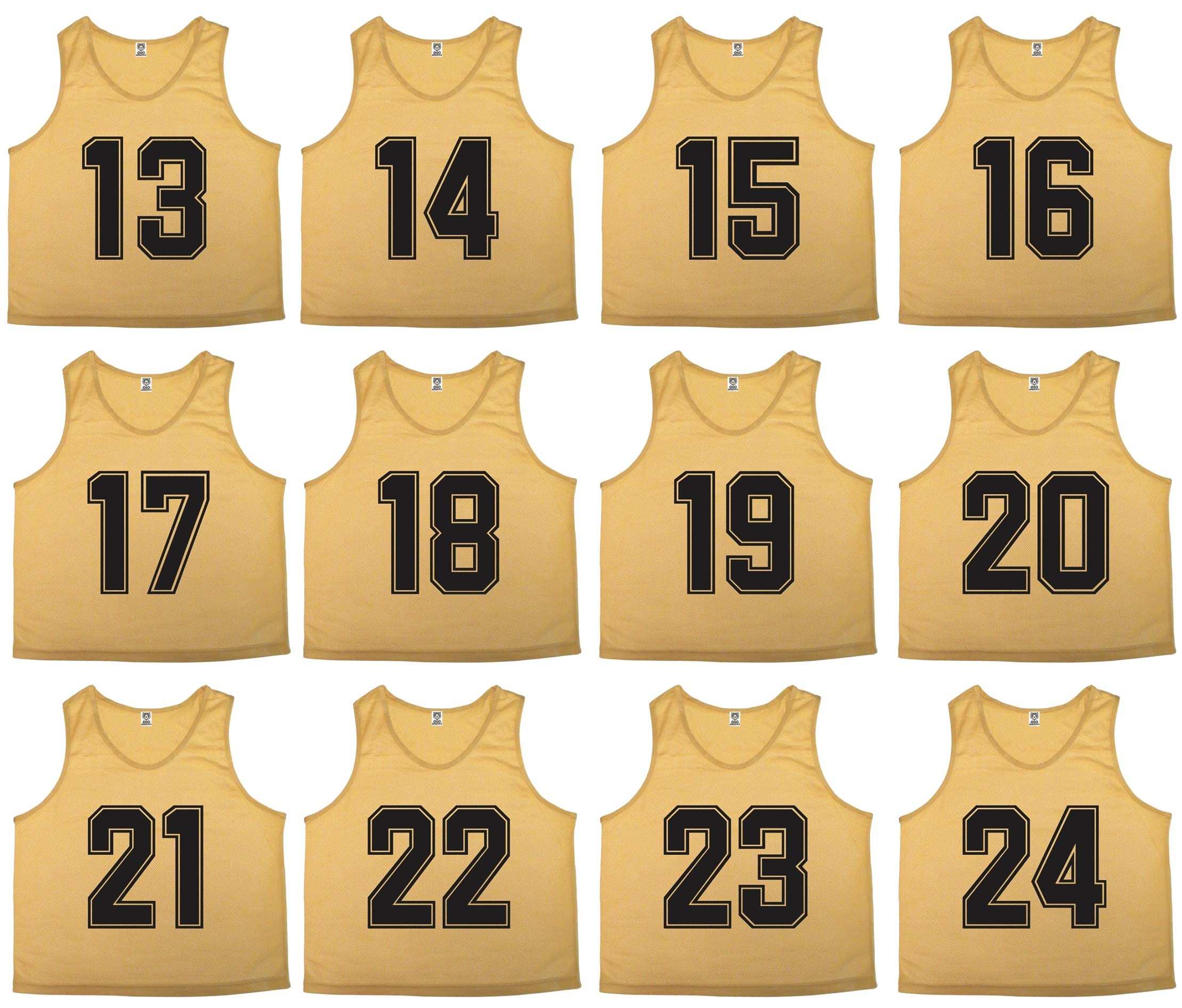 Oso Athletics Sets of 12 (1-12, 13-24, 25-36) Premium Polyester Mesh Numbered Jerseys