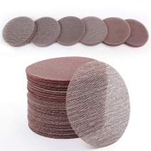 LotFancy 5 Inch Sanding Discs, 60PCS 60 80 120 180 240 320 Grit Mesh Abrasive Dustless Sandpaper Assortment for Car, Woodworking - Hook and Loop Random Orbital Sander Round Sand Paper