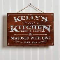 """Artblox Personalized Wooden Kitchen Wall Decor 