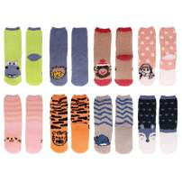 Women's Super Soft Warm Microfiber Fuzzy Cozy Animal Crew Socks, Asst 8b, 8 Pairs