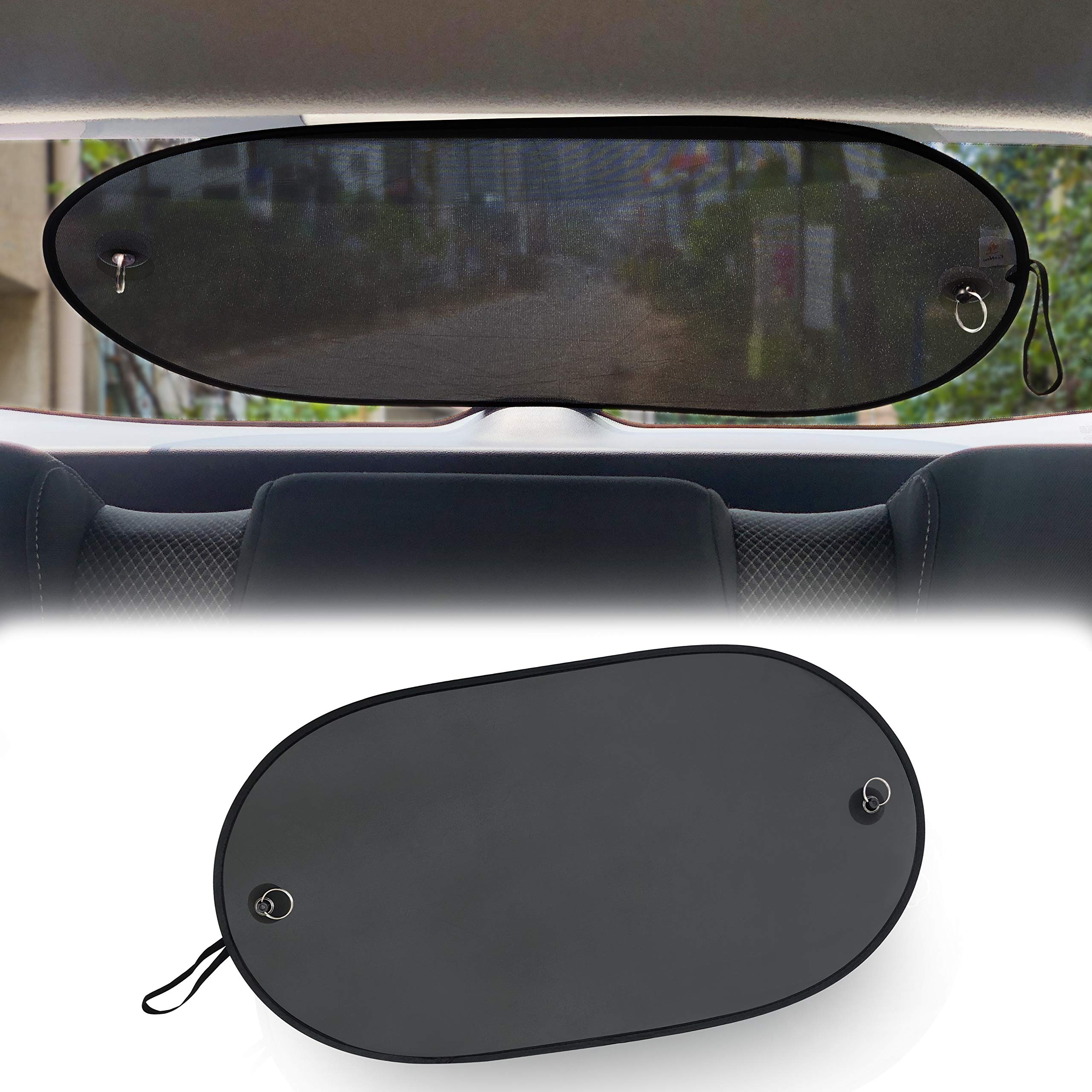 """EcoNour Rear Window Sunshade with Dual Suction Cup 