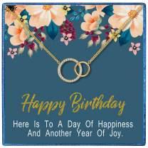 TRENSYGO Birthday Necklace, Birthday Gifts for Women, Mom Birthday Gifts, Birthday Jewelry for Women, Girl Birthday Gifts, Best Friends Birthday Gifts, Birthday Necklace Gifts for Daughter Sister