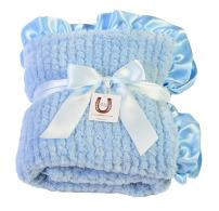Max Daniel Baby Blue Chenille - Double Sided- Ruffle Edge 1192