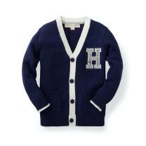 Hope & Henry Boys' Varsity Cardigan Sweater