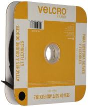 VELCRO Brand Sew On Soft and Flexible Tape for Alterations and Hemming | No Ironing or Gluing | Comfort Designed, Drapes with Fabric | Cut-to-Length Roll, 30ft x 5/8in, Black