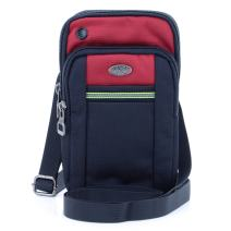 """U-TIMES Water Resistant Oxford Waist Pouch 6.5"""" Crossbody Shoulder Cell Phone Bag(Red)"""