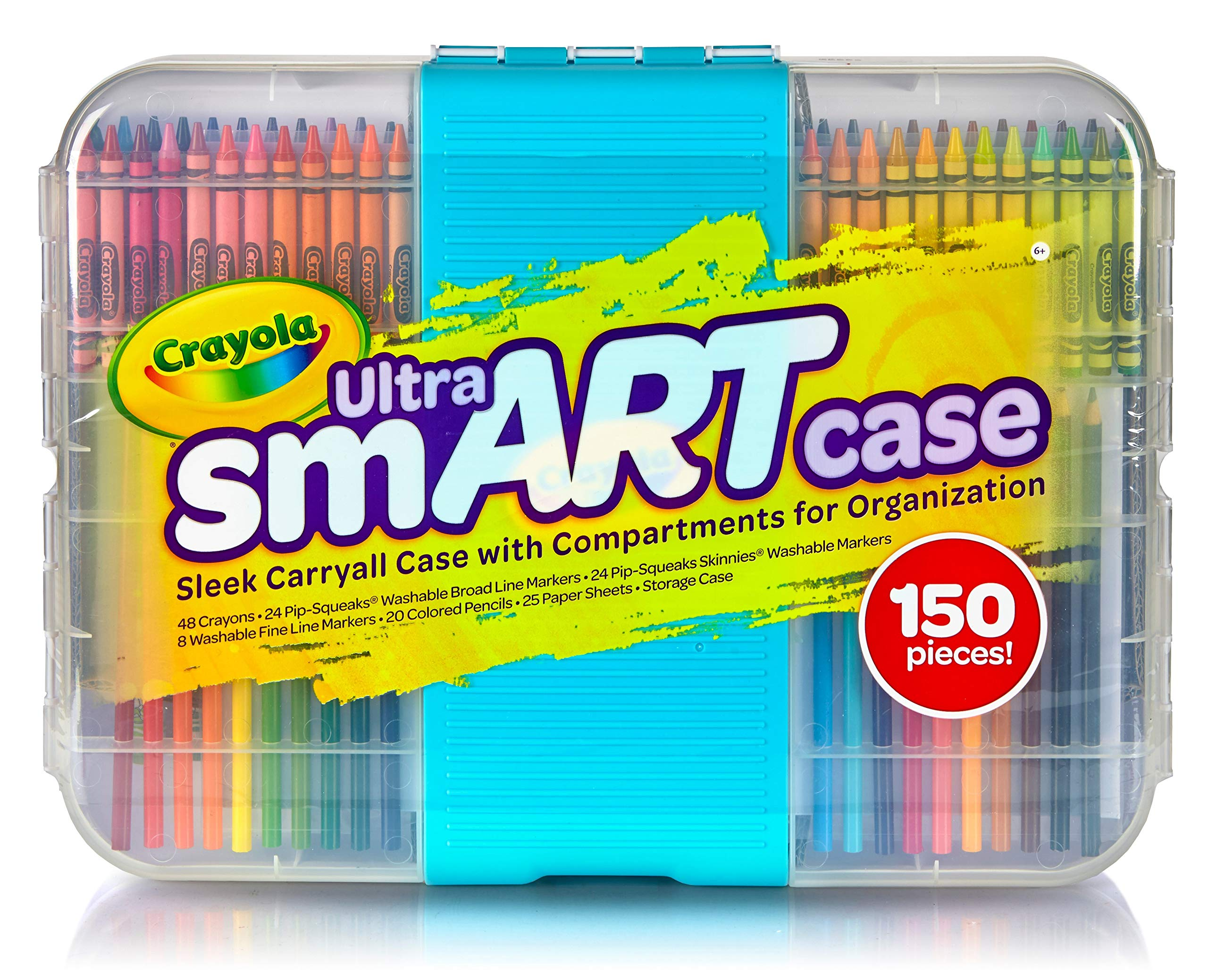 Crayola Ultra Smart Case, Art Tool Kit, Cool Case with Multiple Compartments, Great Gift