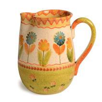 Festa Dinnerware – Pitcher 2 w/Floral Art Design - Festive Dinnerware made of Italian Dinnerware Set of Flowery Hand Painted Ceramic
