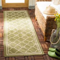 "Safavieh Courtyard Collection CY6918-244 Indoor/Outdoor Runner, 2' 3"" x 20', Green/Beige"