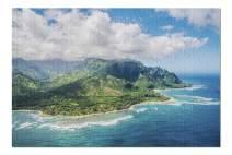 Kauai, Hawaii - Aerial View on Na Pali Coast 9002894 (Premium 1000 Piece Jigsaw Puzzle for Adults, 20x30, Made in USA!)