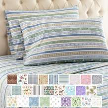 Thermee Micro Flannel Shavel Home Products Sheet Set, Queen, Country Stripe