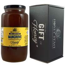 Honey Feast - Florida Beach Mangrove Honey  American Organic floral sources   3 Pounds   Unfiltered & Pure   Local honey to Sanibel Island, Port Charlotte, Melbourne and Cocoa Beach.