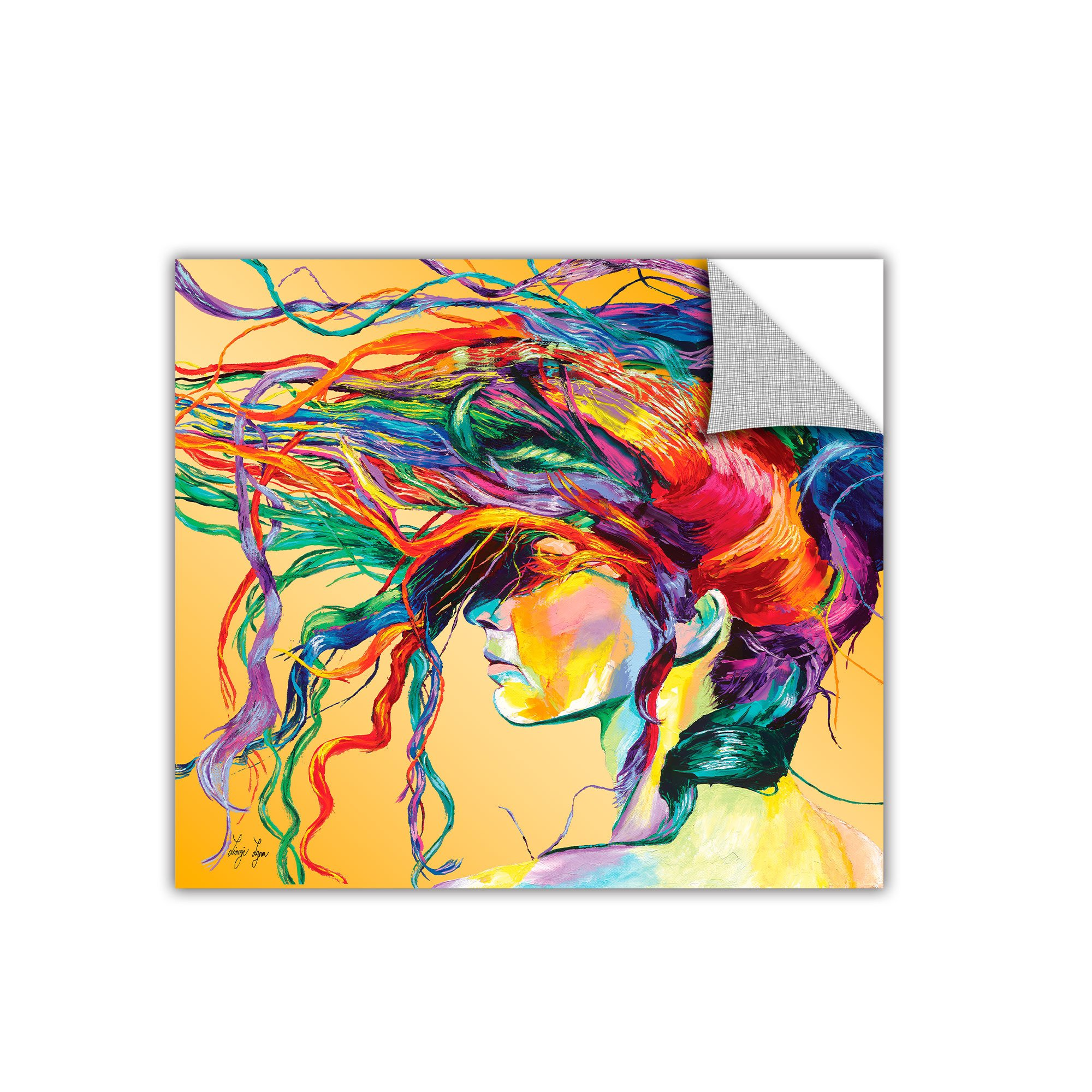 ArtWall 'Windswept' Removable Wall Art by Linzi Lynn, 14 by 14-Inch