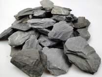 Voulosimi Natural Slate Rocks Stone Perfect Rocks for Aquariums, Landscaping Model,Tank Decoration,Amphibian Enclosures PH Neutral