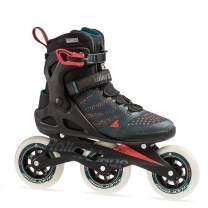Rollerblade Macroblade 110 3WD Mens Adult Fitness Inline Skate, Teal Green and Orange Burst, Performance Inline Skates