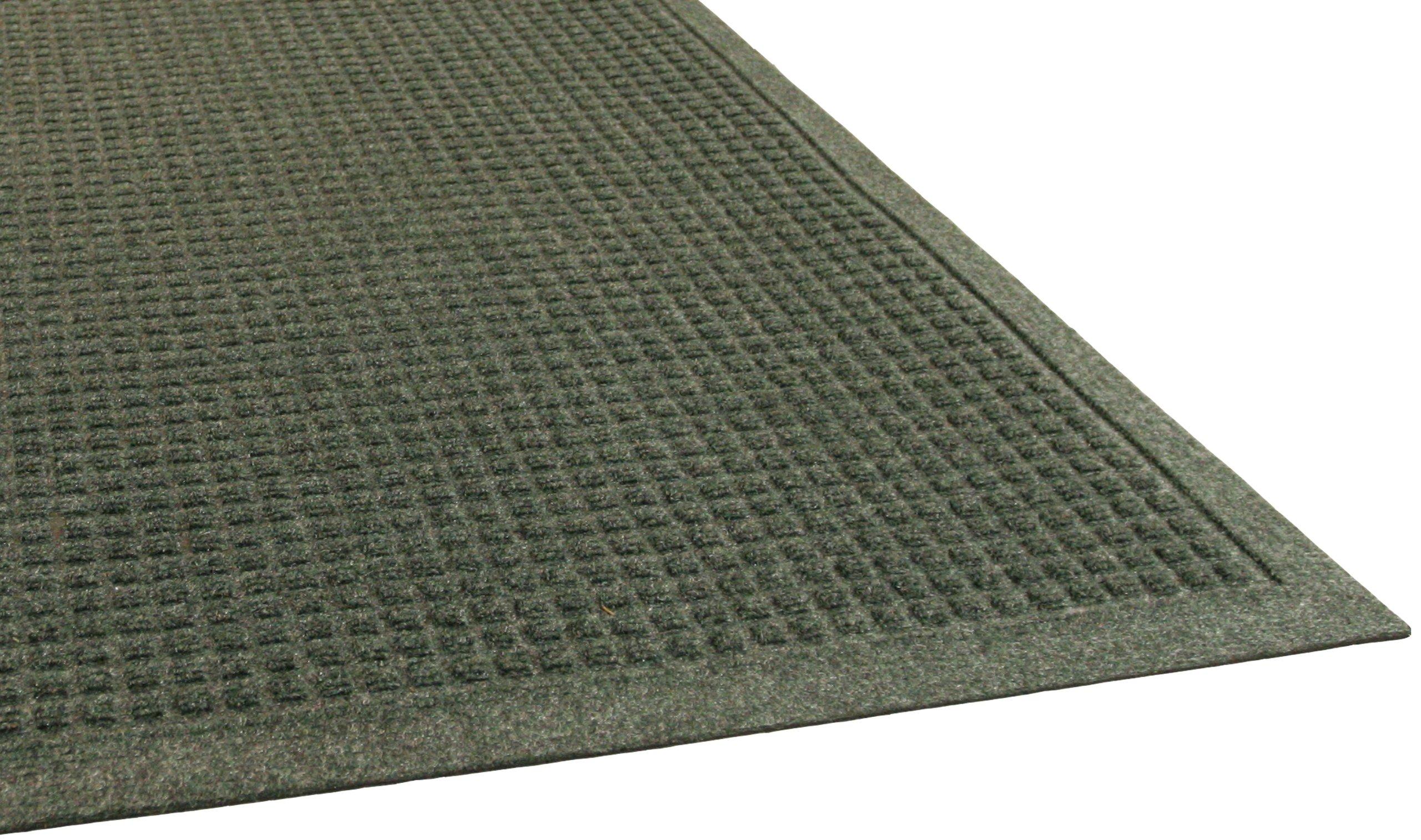 Guardian EcoGuard Indoor Wiper Floor Mat, Recycled Plastic and Rubber, 3' x 4', Green