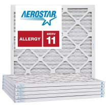 Aerostar 21 1/4x21 1/4x1 MERV 11, Pleated Air Filter, 21 1/4 x 21 1/4 x 1, Box of 6, Made in The USA