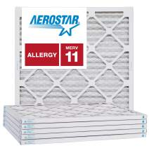 Aerostar 23 1/2x23 1/2x1 MERV 11, Pleated Air Filter, 23 1/2 x 23 1/2 x 1, Box of 6, Made in The USA