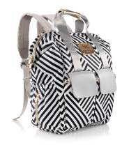 Chevron Diaper Bag Backpack Baby Travel bag with Changing Pad and StrollerStraps