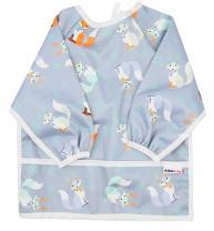 Pikababy Long Sleeved Bib Waterproof Bibs with Pocket - 6 to 24 Months Baby Girl and boy Colors (Deers)