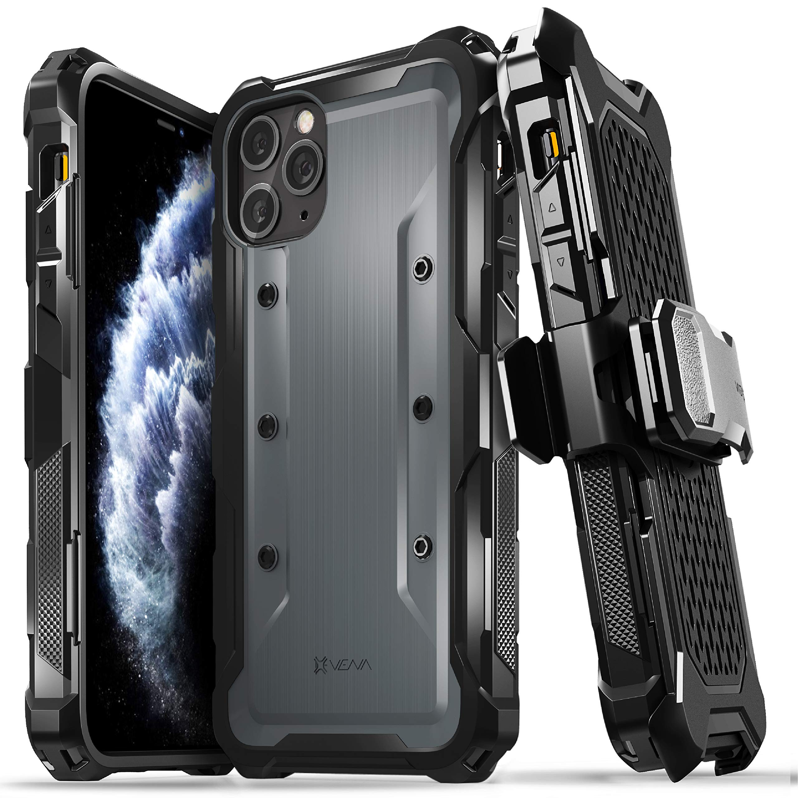 Vena vArmor iPhone 11 Pro Max Holster Case, Rugged Heavy Duty Protective Case, Designed for iPhone 11 Pro Max (6.5 inches)