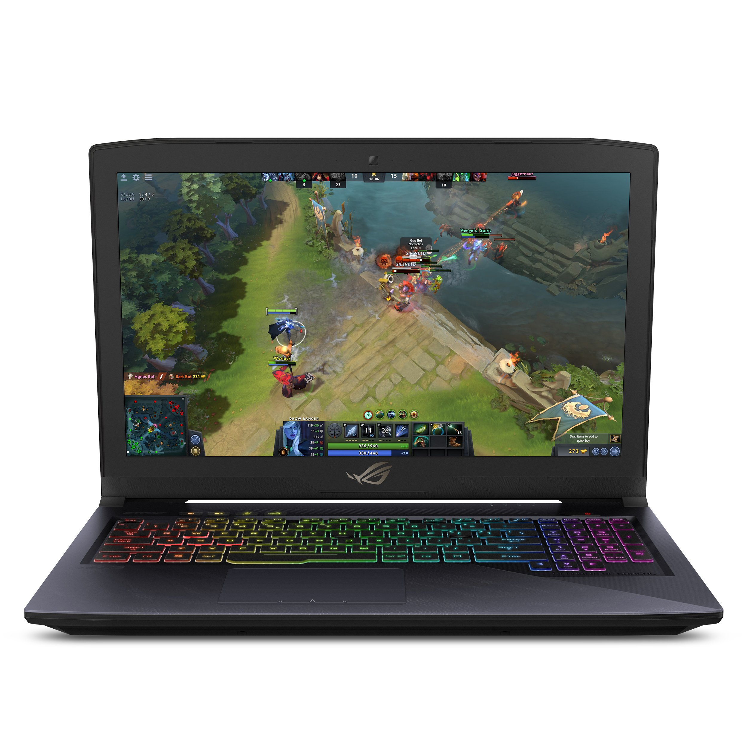"Asus ROG Strix Hero Edition Gaming Laptop, 15.6"" Full HD 120Hz 3ms, 8th-Gen Intel Core i5-8300H Processor, GeForce GTX 1050 Ti 4GB, 8GB DDR4, 128GB PCIe SSD + 1TB FireCuda, Windows 10 - GL503GE-ES52"