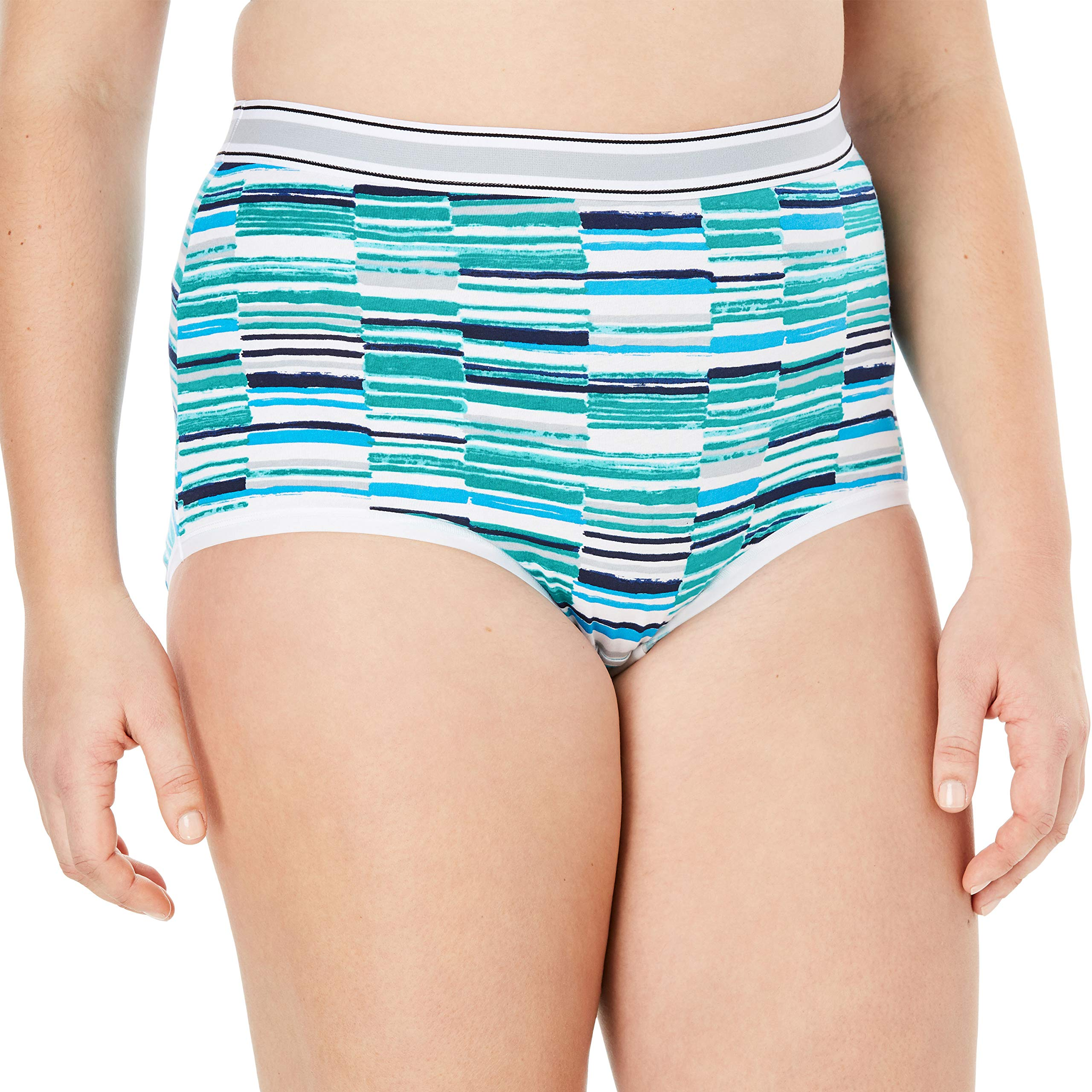 Comfort Choice Women's Plus Size 2-Pack Stretch Cotton Full-Cut Sports Brief