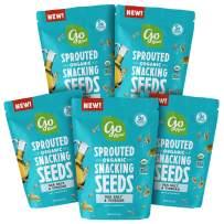 Go Raw Pumpkin & Sunflower Seed Snack Mix, Sea Salt and Vinegar, 4 oz. Bags (Pack of 5) - Keto   Vegan   Gluten Free  Organic   Superfood