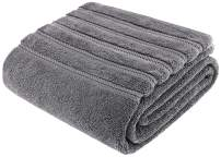 American Soft Linen 100% Turkish Genuine Cotton Large, Jumbo Bath Towel 35x70 Premium & Luxury Towels for Bathroom, Maximum Softness & Absorbent Bath Sheet [Worth $34.95] - Rockridge Grey