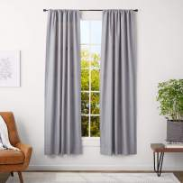 AmazonBasics 5/8-Inch Curtain Rod with Cap Finials - 28 to 48 Inch, Espresso (Dark Bronze)