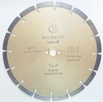 "Whirlwind USA LSS 9 inch Dry or Wet Cutting General Purpose Power Saw Segmented Diamond Blades for Masonry Brick/Block Pavers Concrete Stone (9"")"