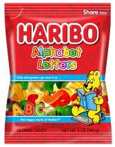 Haribo Gummi Candy, Alphabet Letters, 5 oz. Bag (Pack of 12)