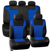 FH Group FB068BLUE115 Blue Universal Car Seat Cover (Premium 3D Air mesh Design Airbag and Rear Split Bench Compatible)