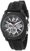 U.S. Military Men's Analog-Digital Chronograph Black Silicone Strap Watch by Wrist Armor
